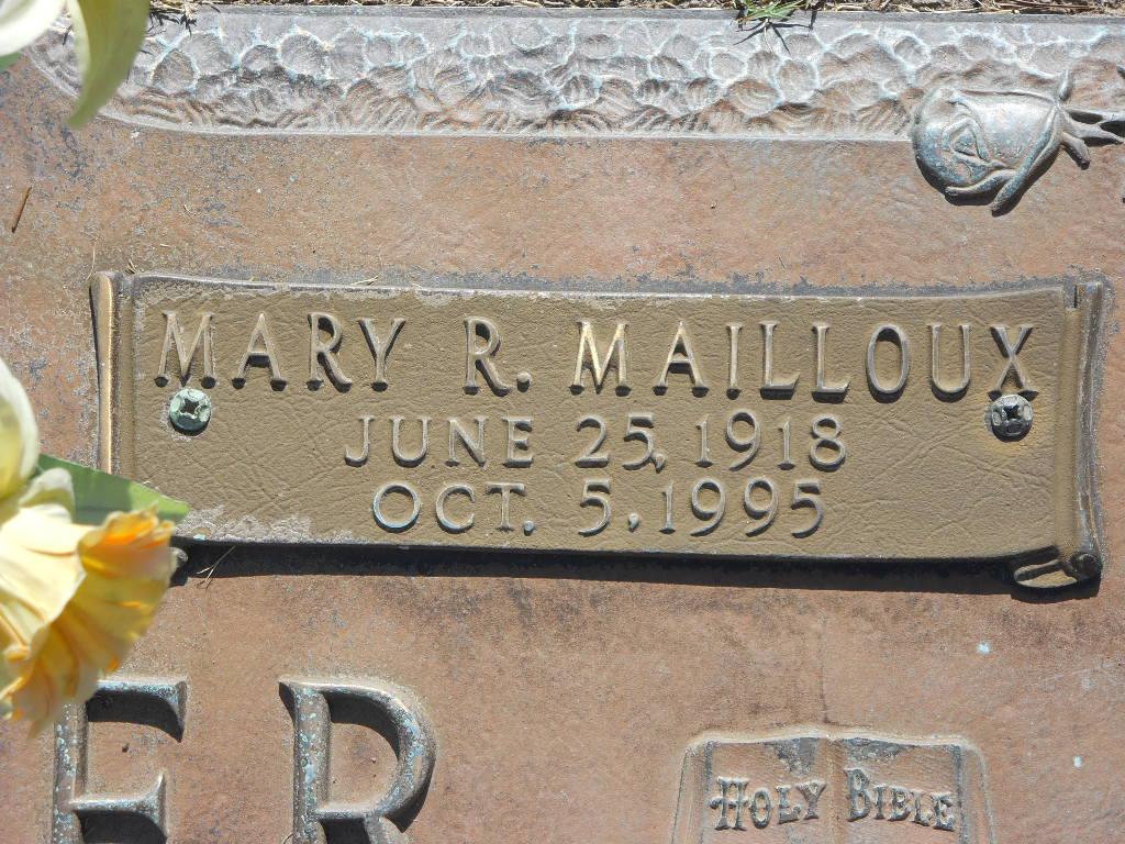 Mary <i>Walden</i> Farmer Mailloux