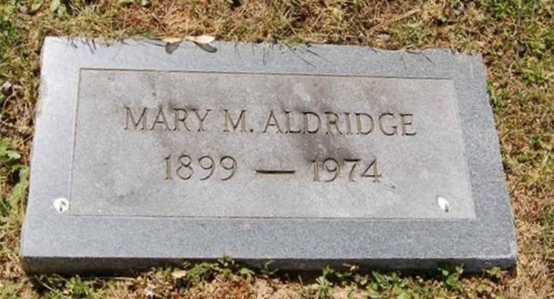 Mary M <i>Hammonds</i> Aldridge