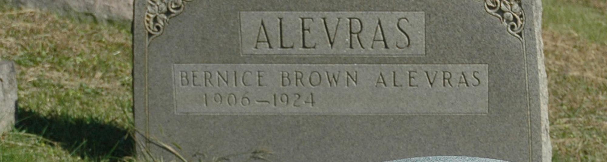 Bernice <i>Brown</i> Alevras