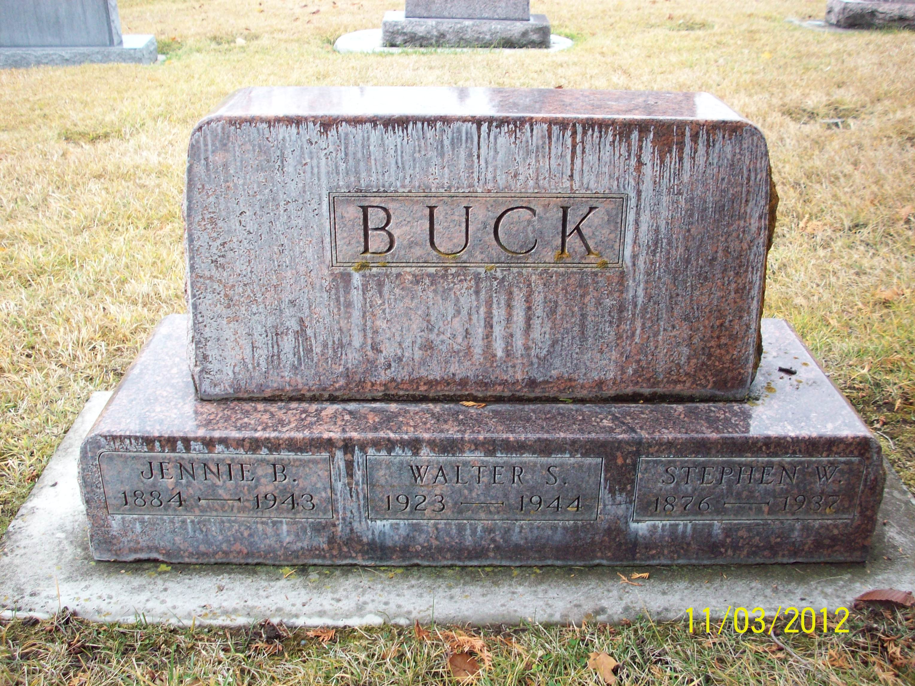 Jennie Belle <i>Welsh</i> Buck