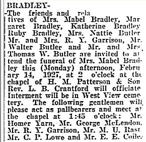 Mabel <i>Butler</i> Bradley