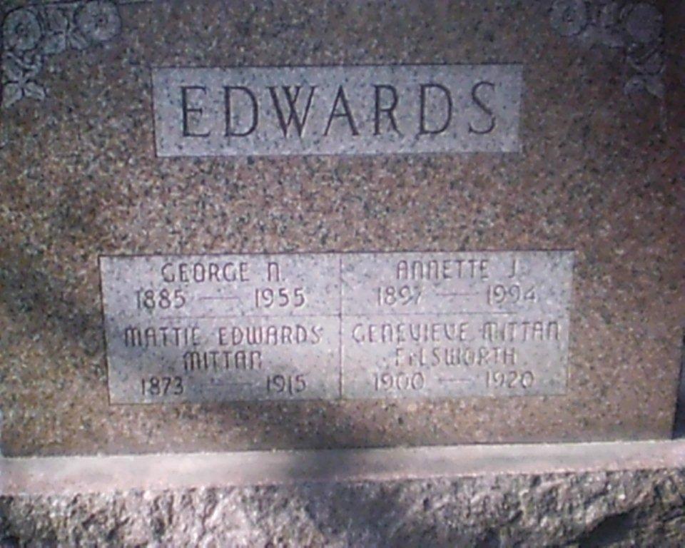 Mattie <i>Mittan</i> Edwards
