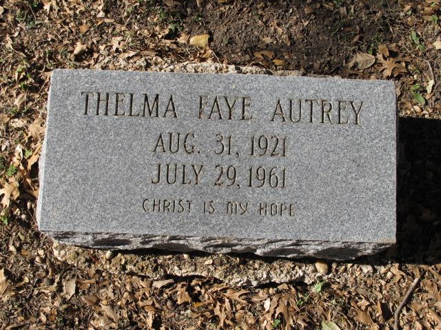 Thelma Faye <i>Rhodes</i> Autrey