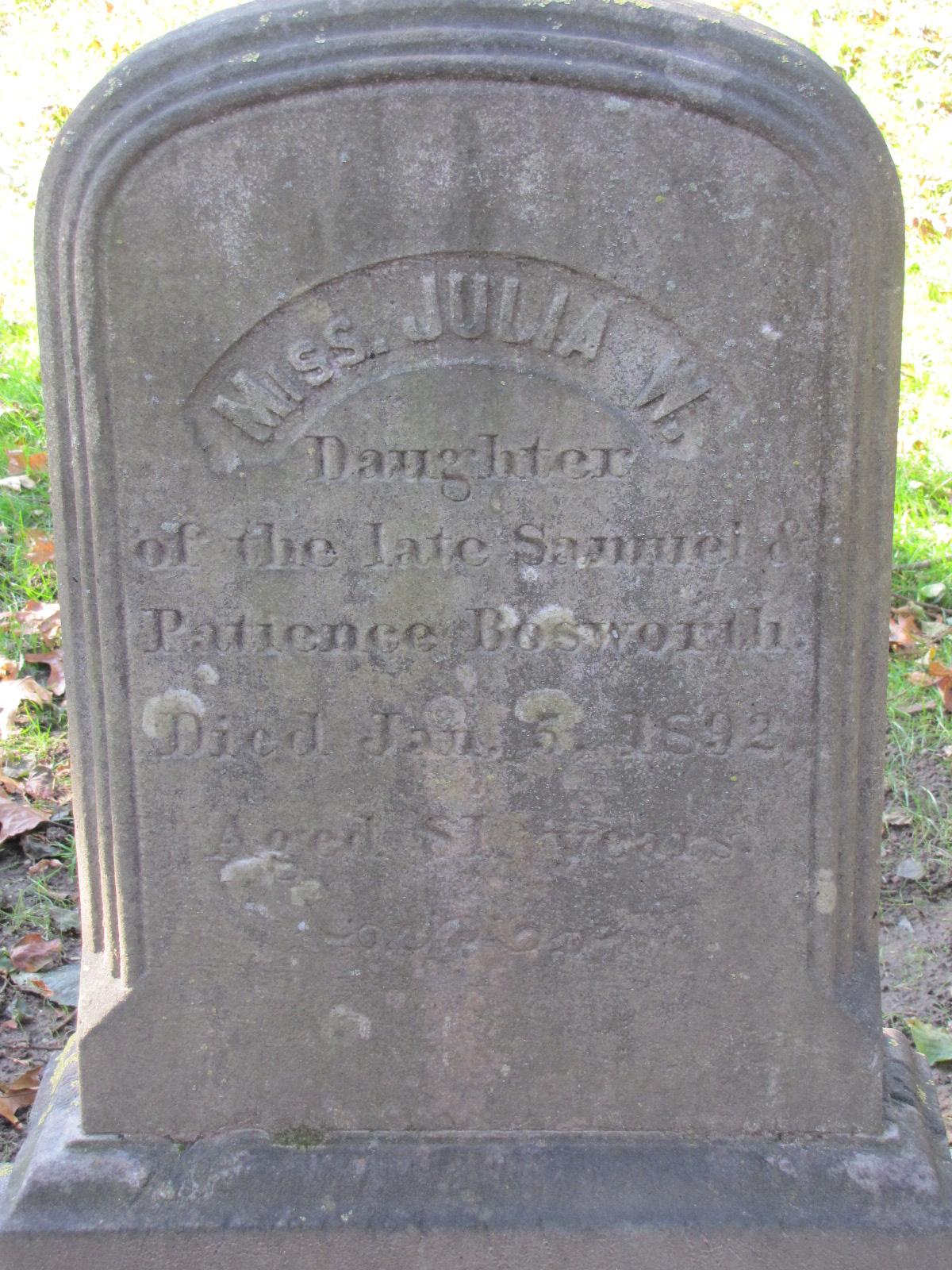 Julia W. Bosworth