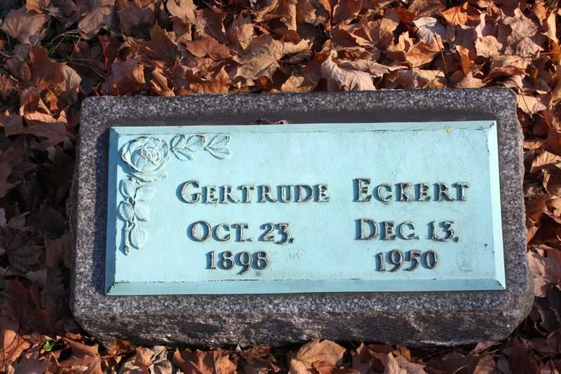 Gertrude M <i>Miller</i> Eckert