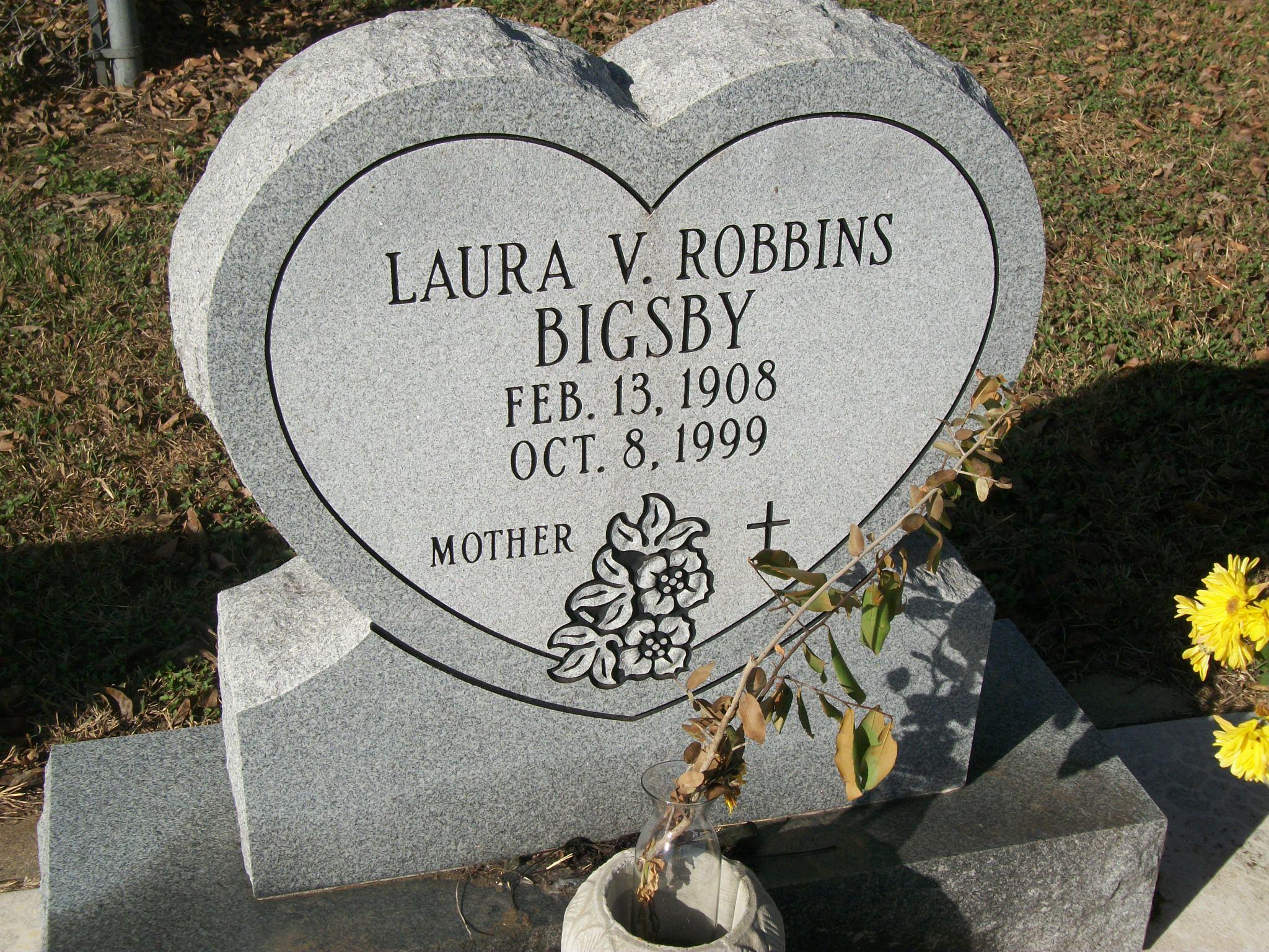Laura V <i>Robbins</i> Bigsby