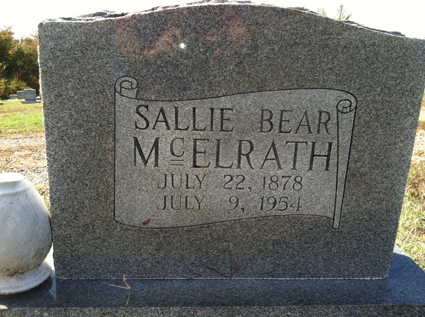 Sarah Willis Sally or Sallie <i>Fry</i> Bear McElrath