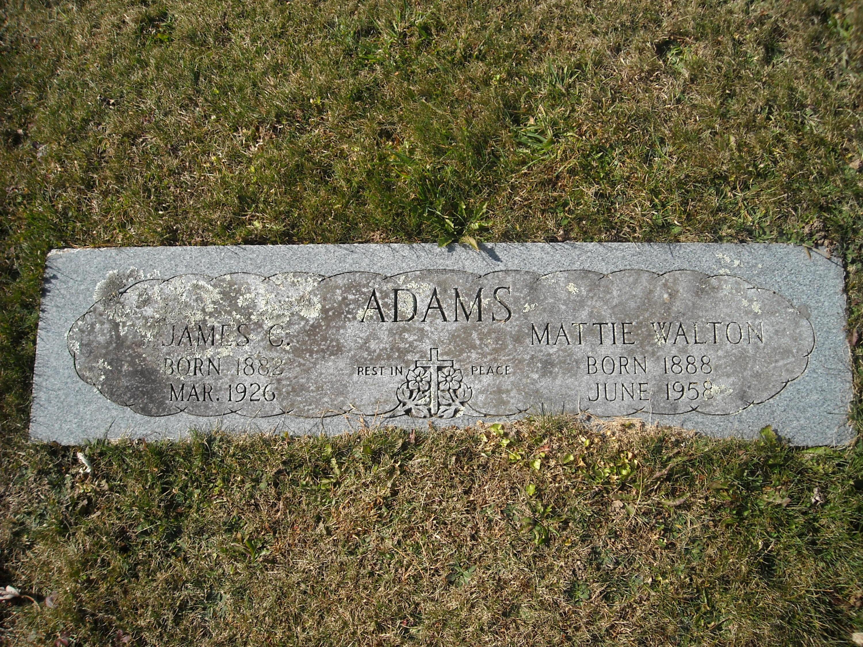 Mattie <i>Walton</i> Adams