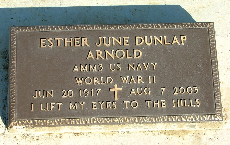 Esther June June <i>Dunlap</i> Arnold