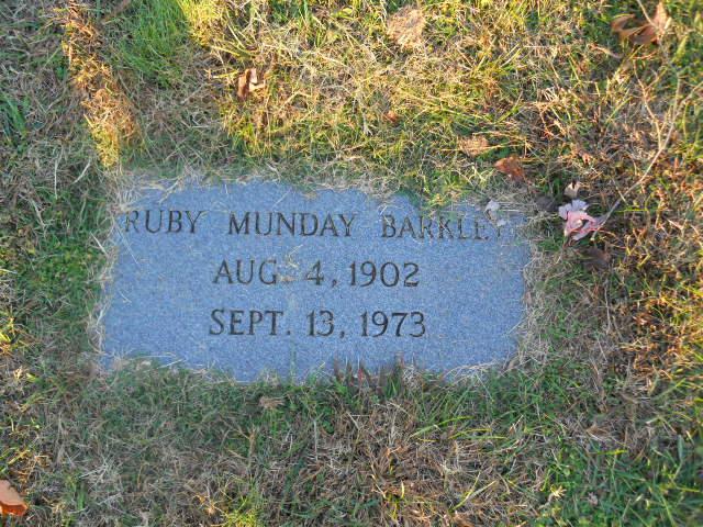 Ruby <i>Munday</i> Barkley