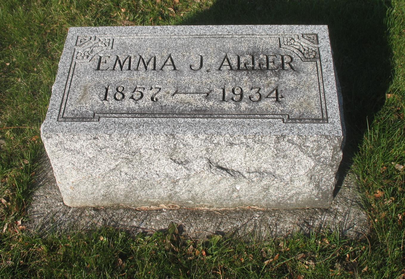 Emma J <i>Hoy</i> Aller