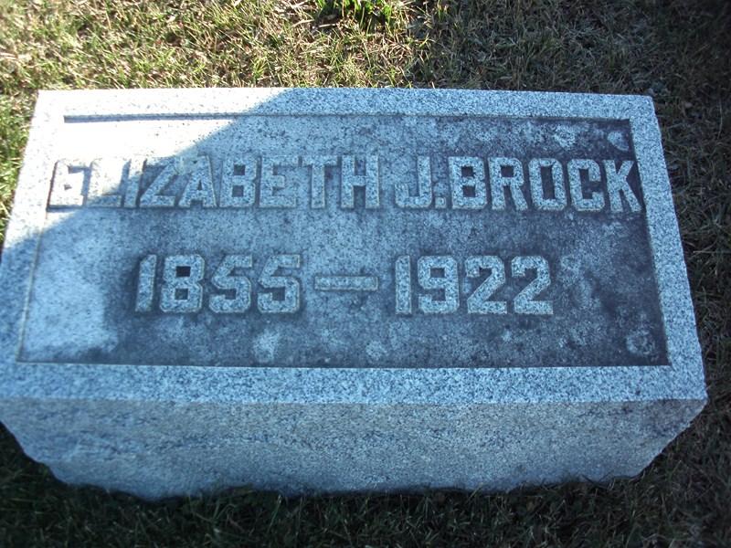 Elizabeth Jane <i>Moffitt</i> Brock