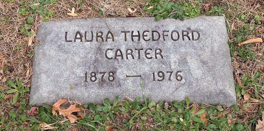 Laura <i>Thedford</i> Carter