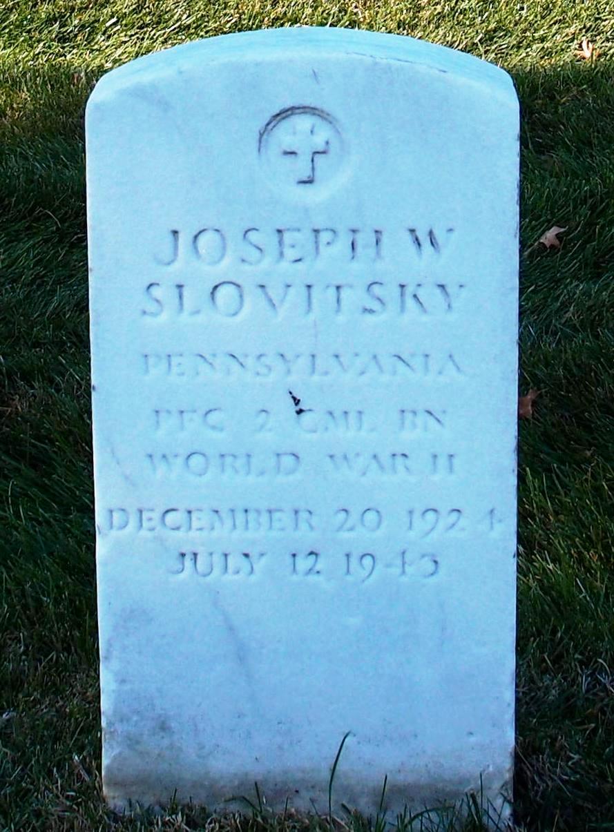 PFC Joseph W Slovitsky