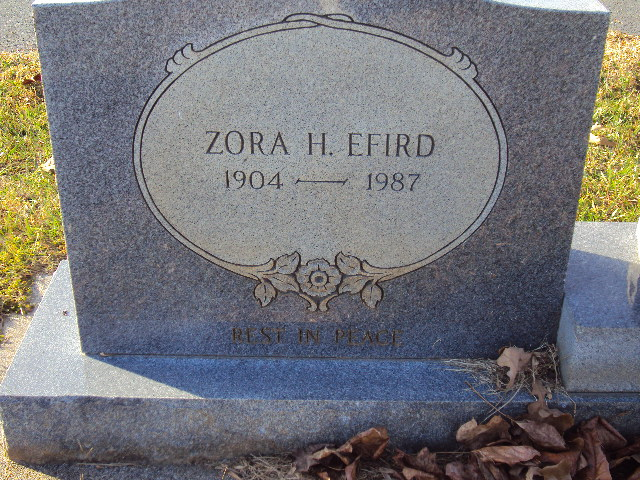Zora Mary Lee <i>Huneycutt</i> Efird