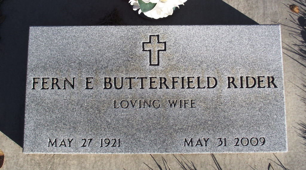 Fern E. <i>Butterfield</i> Rider