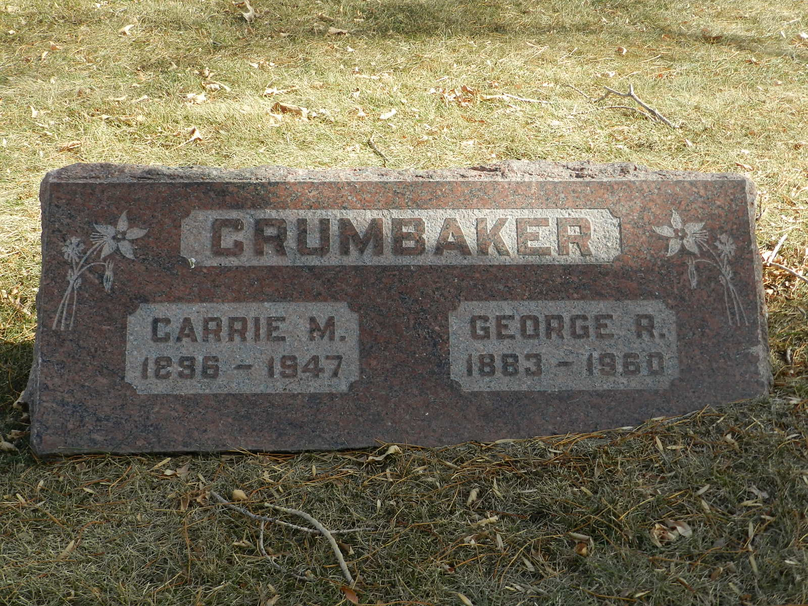 Carrie M <i>Sowards</i> Crumbaker