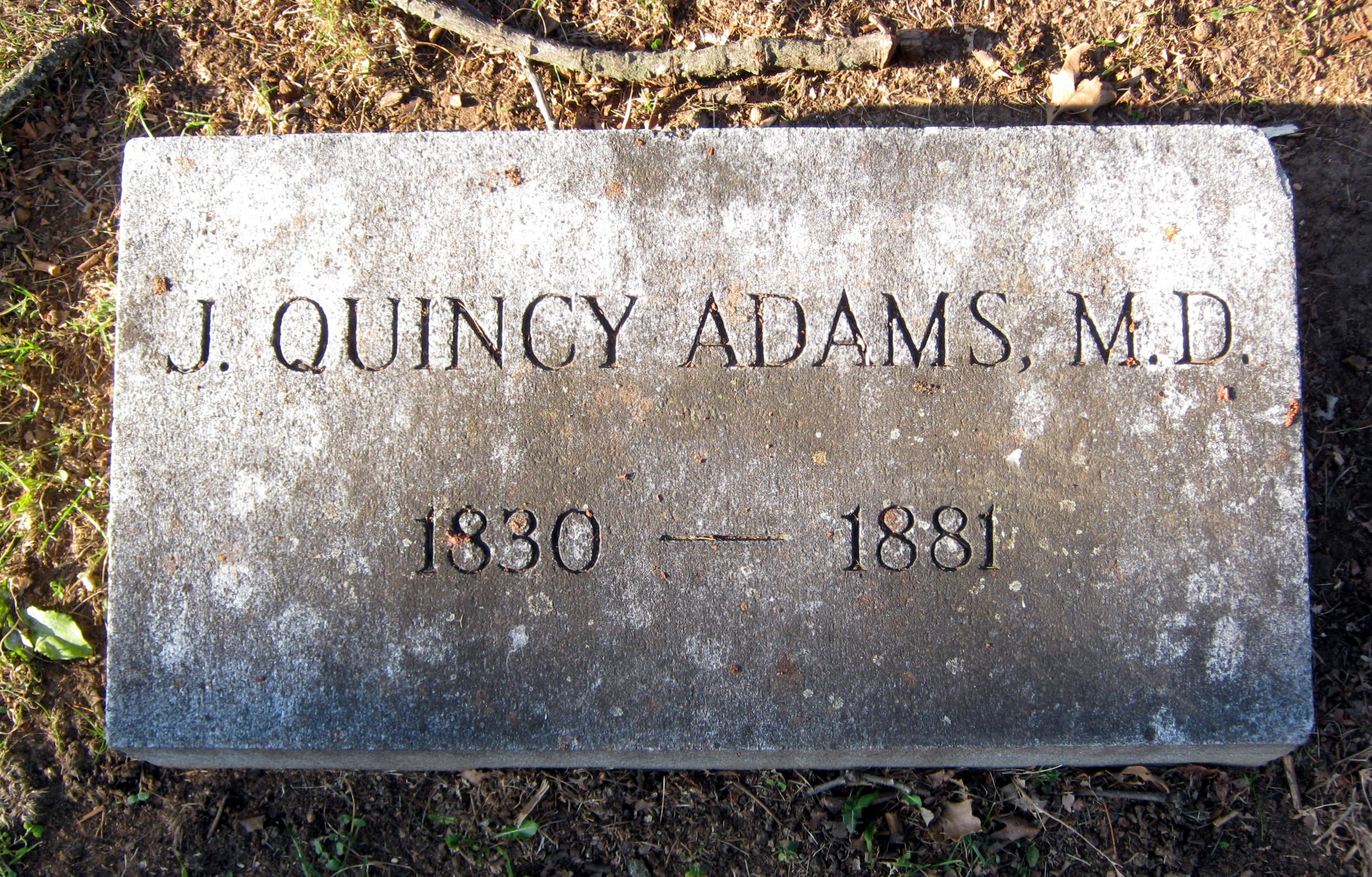 Dr John Quincy Adams