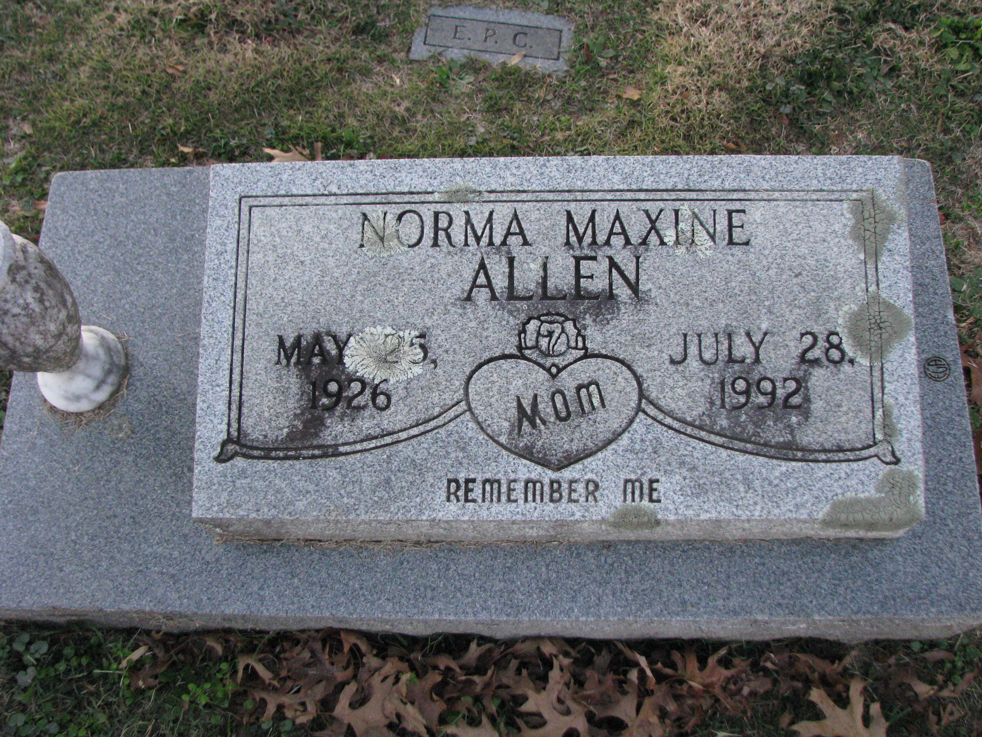 Norma Maxine Allen