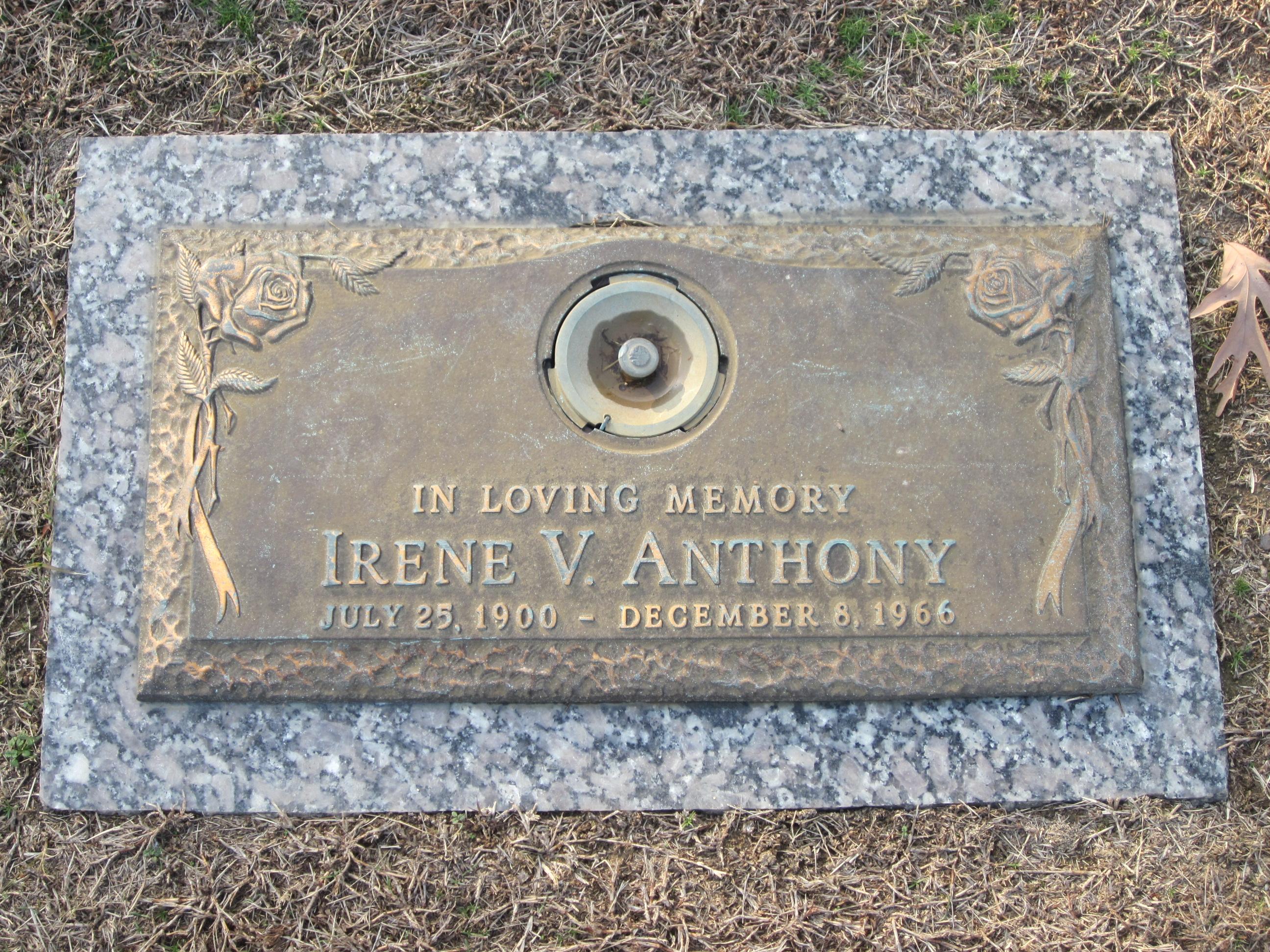 Irene V Anthony