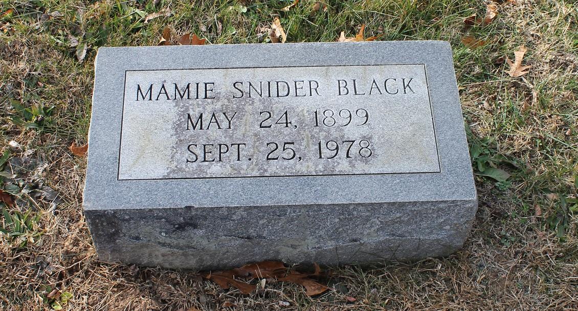 Mamie Gertrude <i>Lee</i> Snider-Black