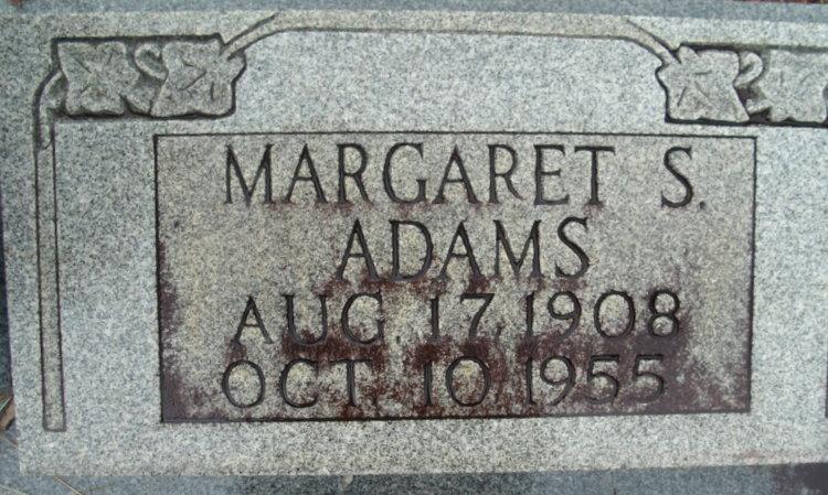 Margaret <i>Sosebee</i> Adams
