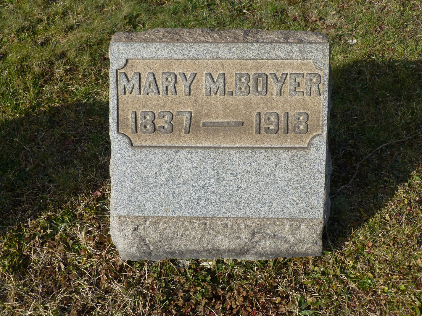 Mary M. <i>Palmer</i> Boyer