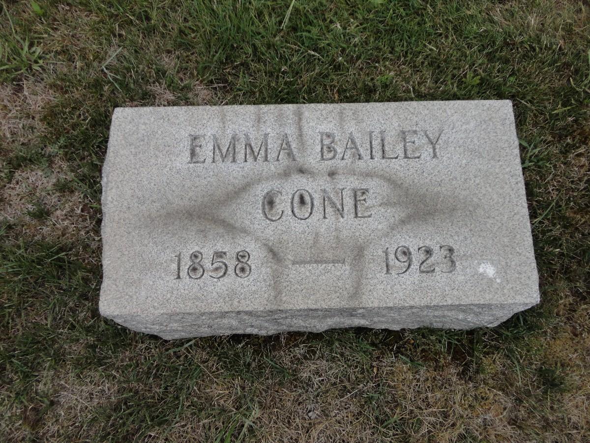 Emma E <i>Bailey</i> Cone