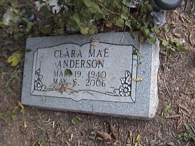 Clara Mae <i>Turner</i> Anderson