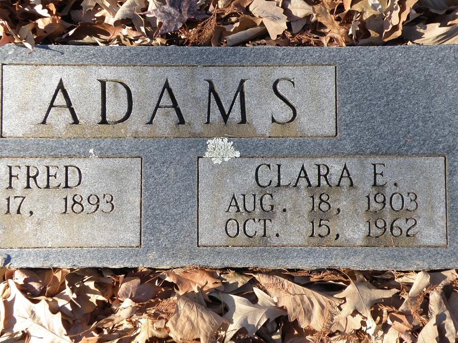 Clara Effie <i>Gibson</i> Adams