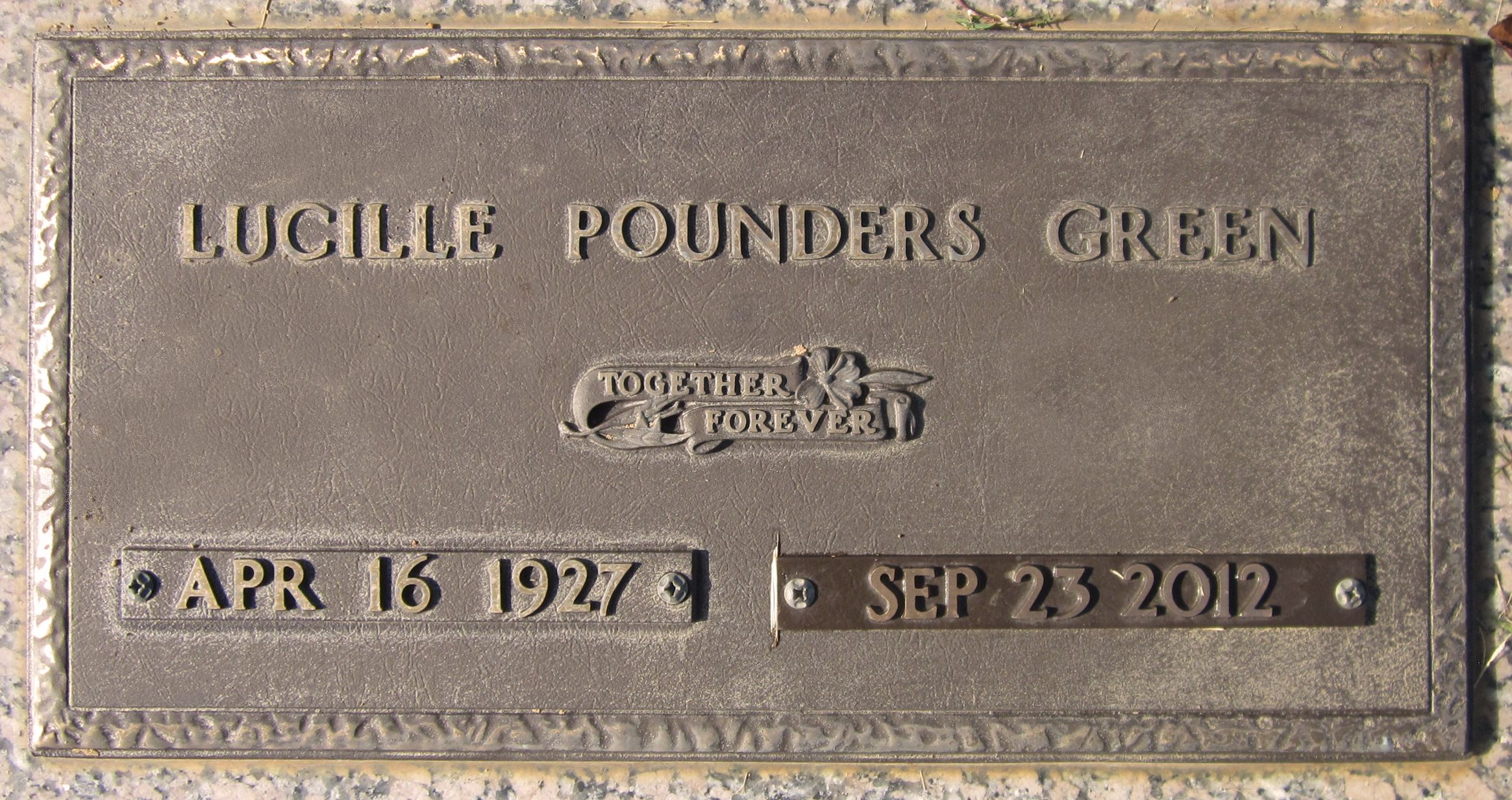 Lucille <i>Pounders</i> Green