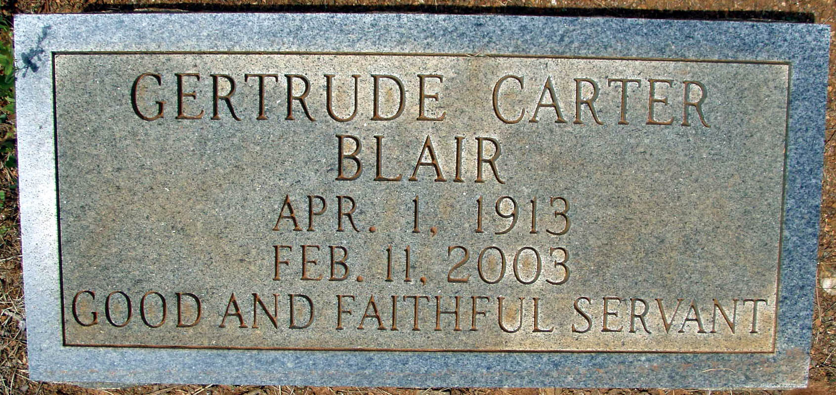 Gertrude Frances <i>Carter</i> Blair