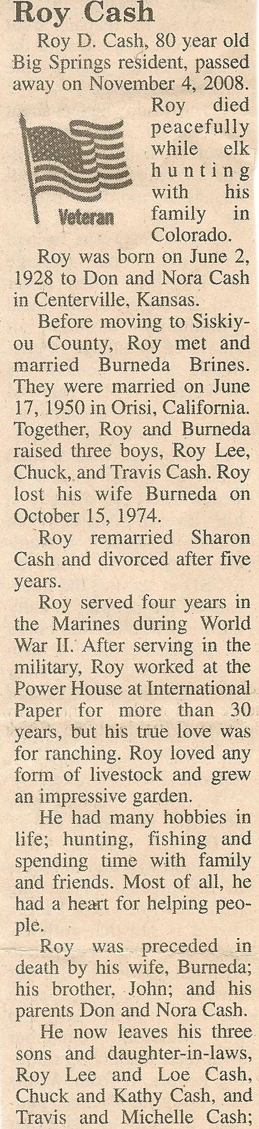 Roy D. Cash