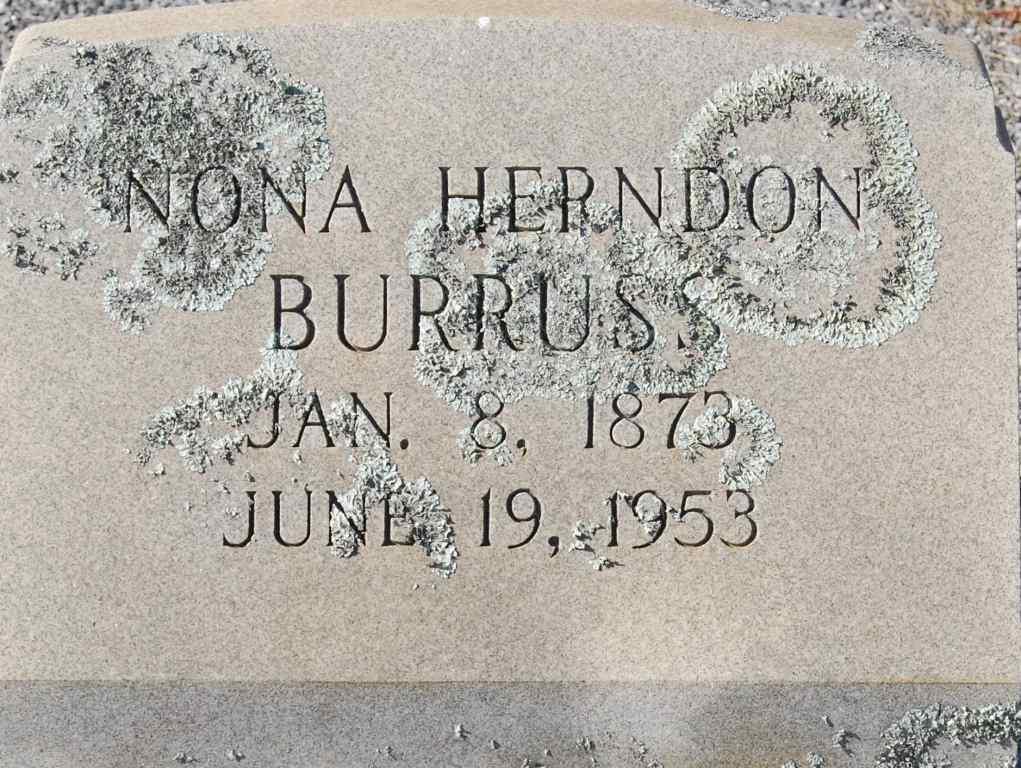 Verona L Nona <i>Herndon</i> Burruss