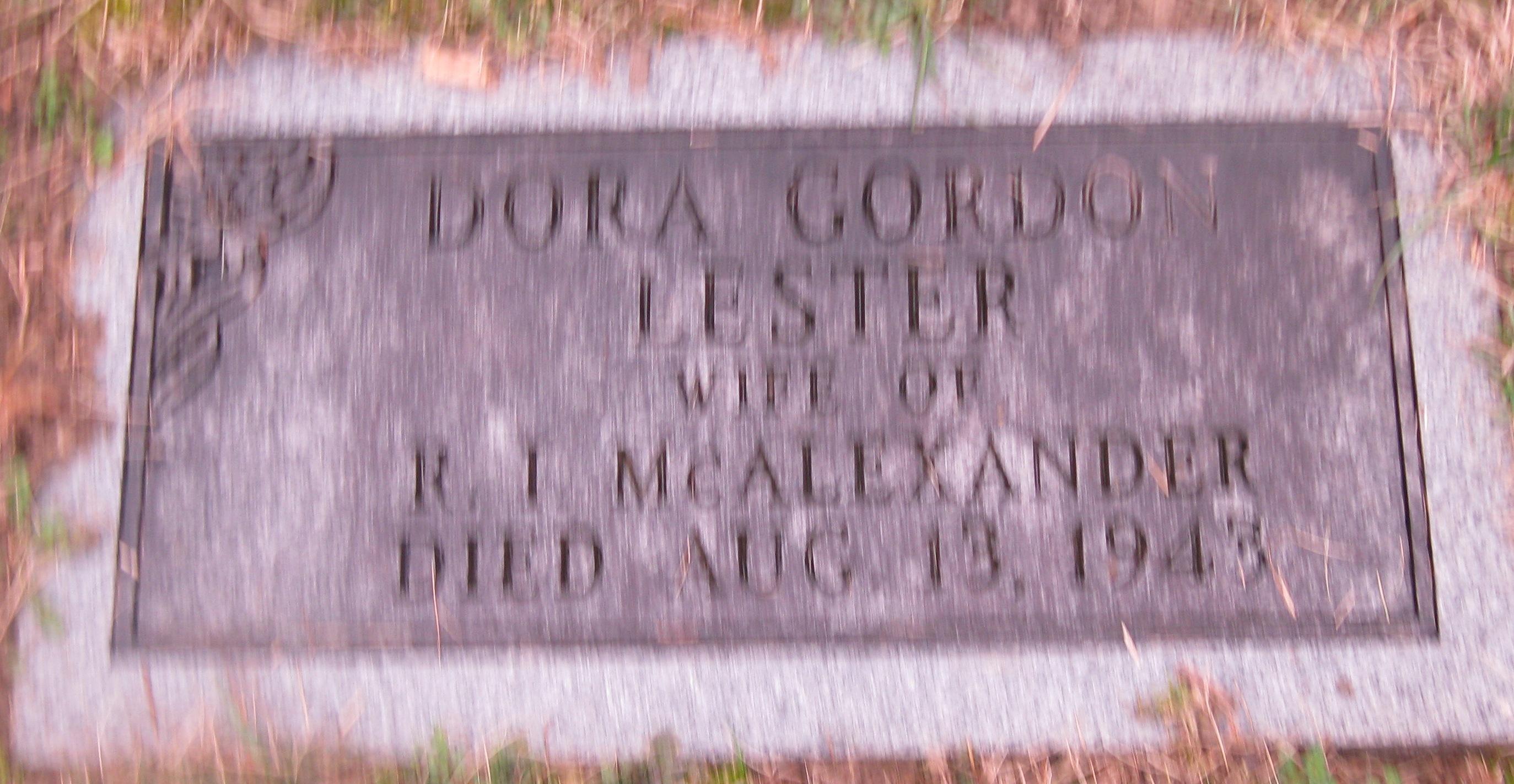 Dora Gordon <i>Lester</i> McAlexander