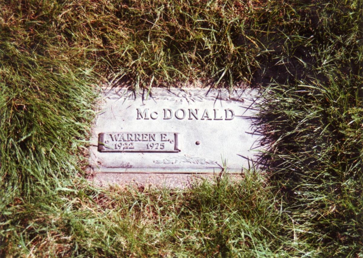 Warren Earl McDonald
