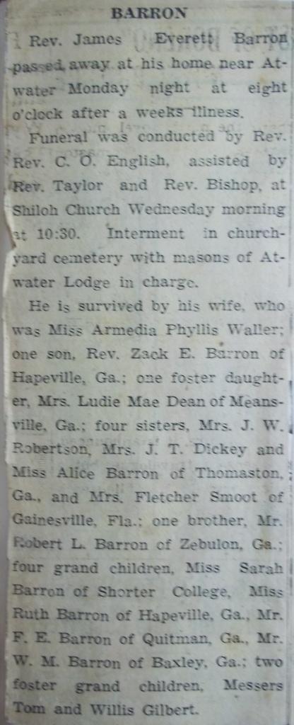 Rev James Everett Barron