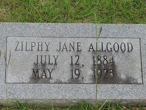 Zilphy Jane <i>Templeton</i> Allgood