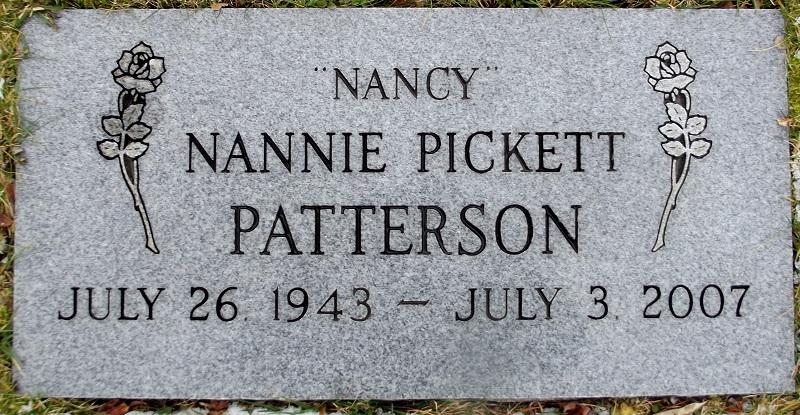 Nancy Nannie <i>Pickett</i> Patterson