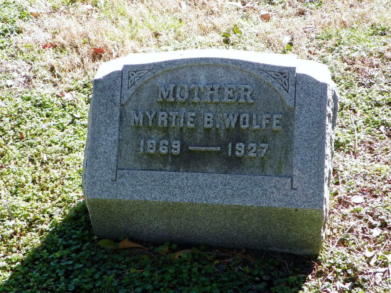 Myrtle Belle Myrtie <i>McGuinnity</i> Wolfe