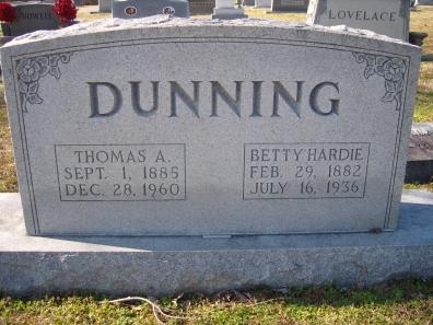 Elizabeth Hardie Betty <i>Harris</i> Dunning