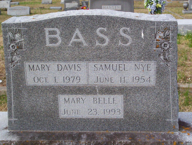 Mary Grant Mamie <i>Davis</i> Bass