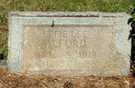 Effie Lee <i>Williams</i> Alford