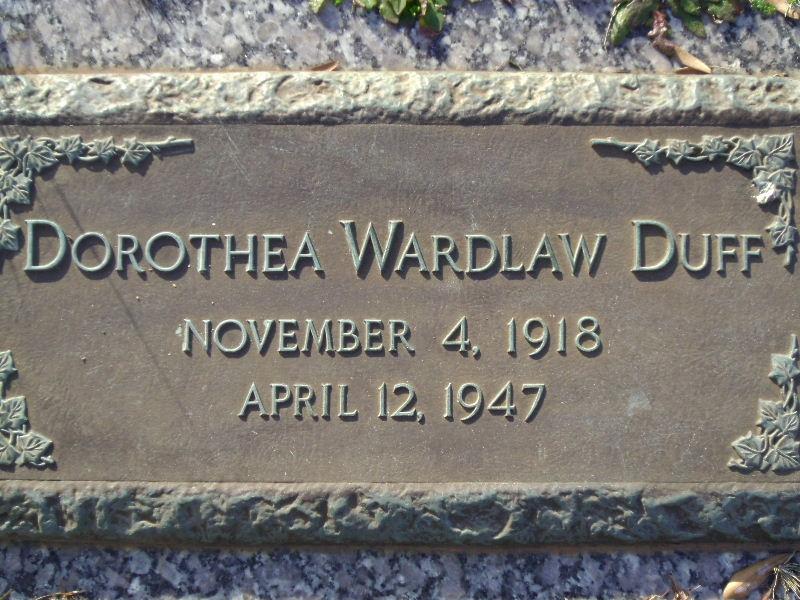 Dorothea <i>Wardlaw</i> Duff