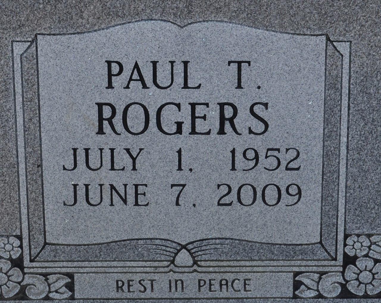 Paul Thomas Rogers 1952 2009 Find A Grave Memorial