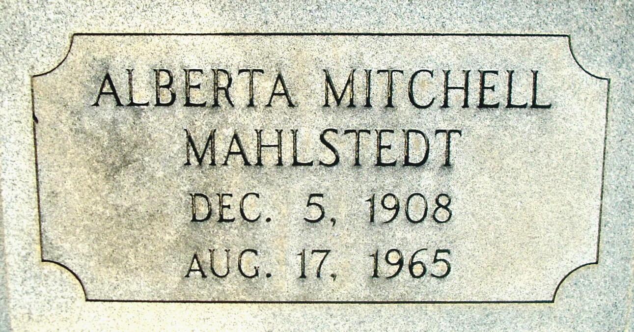 Alberta <i>Mitchell</i> Mahlstedt