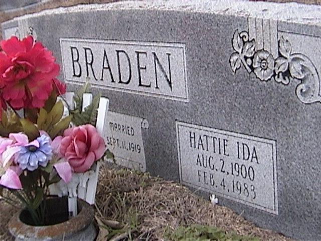 Hattie Ida <i>Reynolds</i> Braden