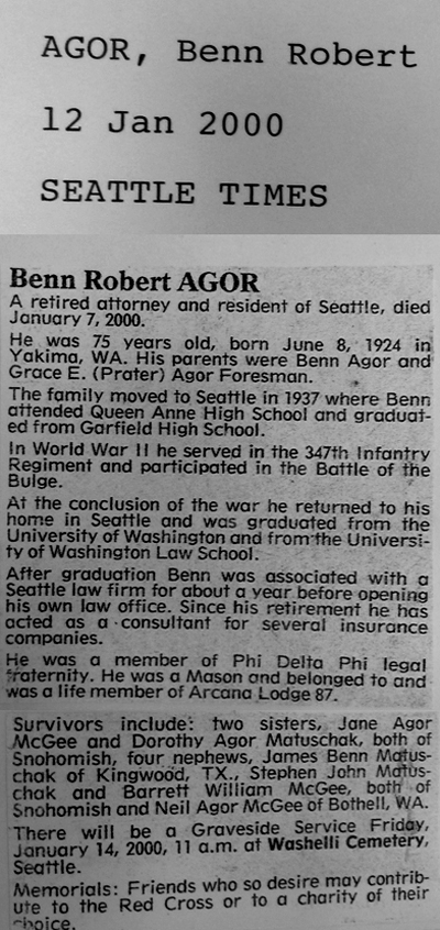 Benn Robert Agor