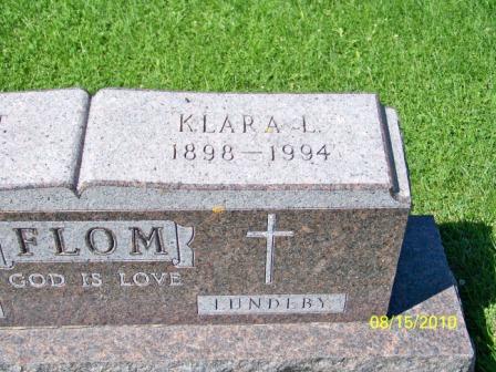 Klara L <i>Lundeby</i> Flom