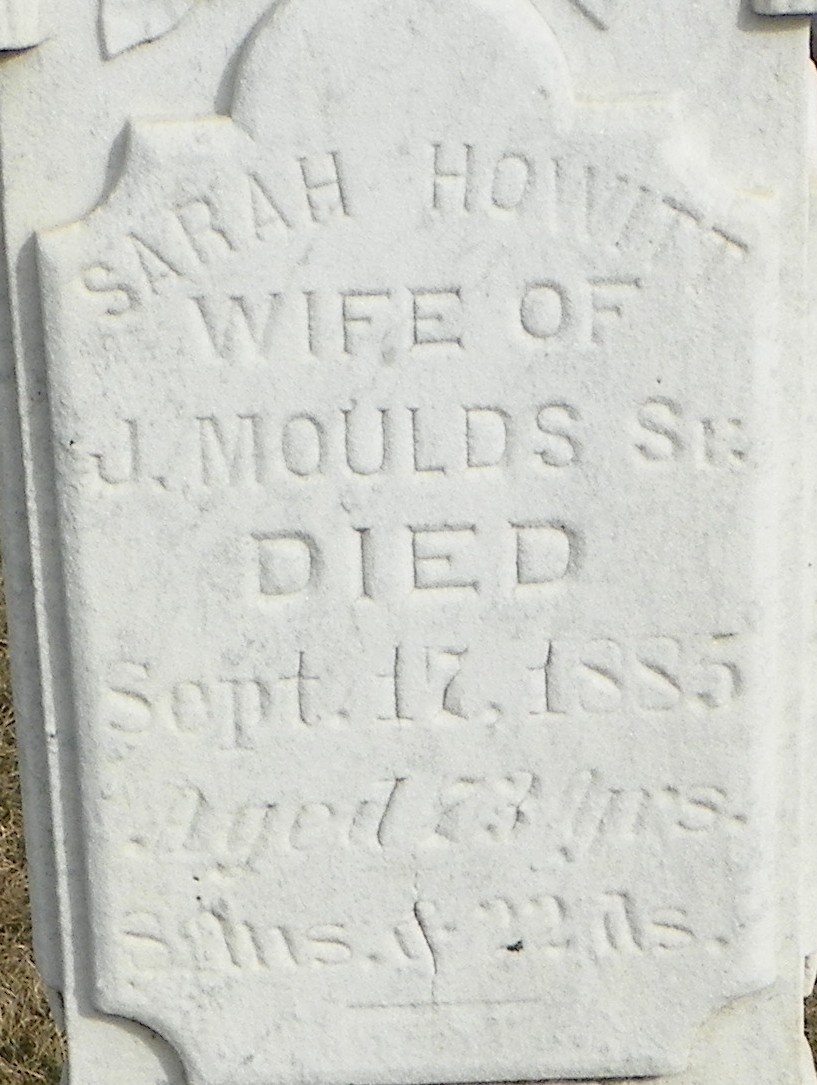 Sarah <i>Howitt</i> Moulds